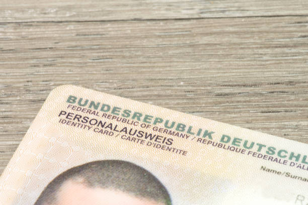 Ein deutscher Personalausweis stock photo