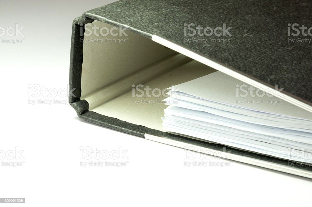 Ein Dokumentenordner stock photo