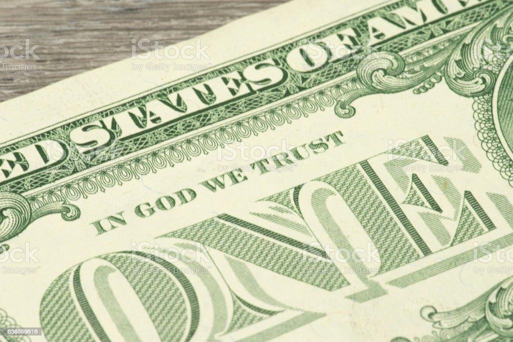 Ein Dollarschein stock photo