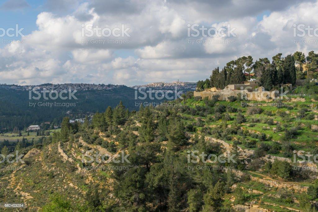 Ein Karem mountain royalty-free stock photo