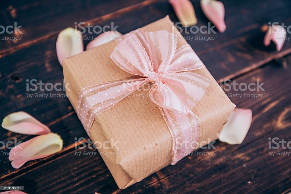 Ein schönes Geschenk stock photo