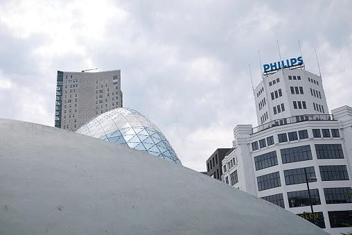 Eindhoven, Netherlands - May 16, 2018 : Modern building in Eindhoven