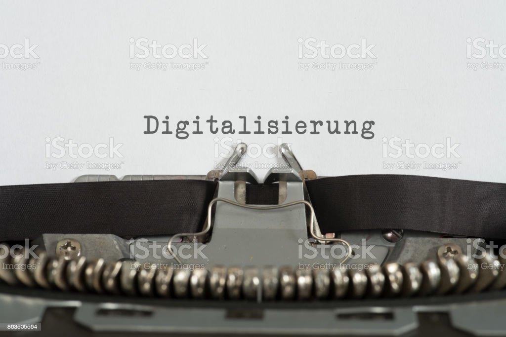 Eine Alte Schreibmaschine Und Digitalisierung – Foto