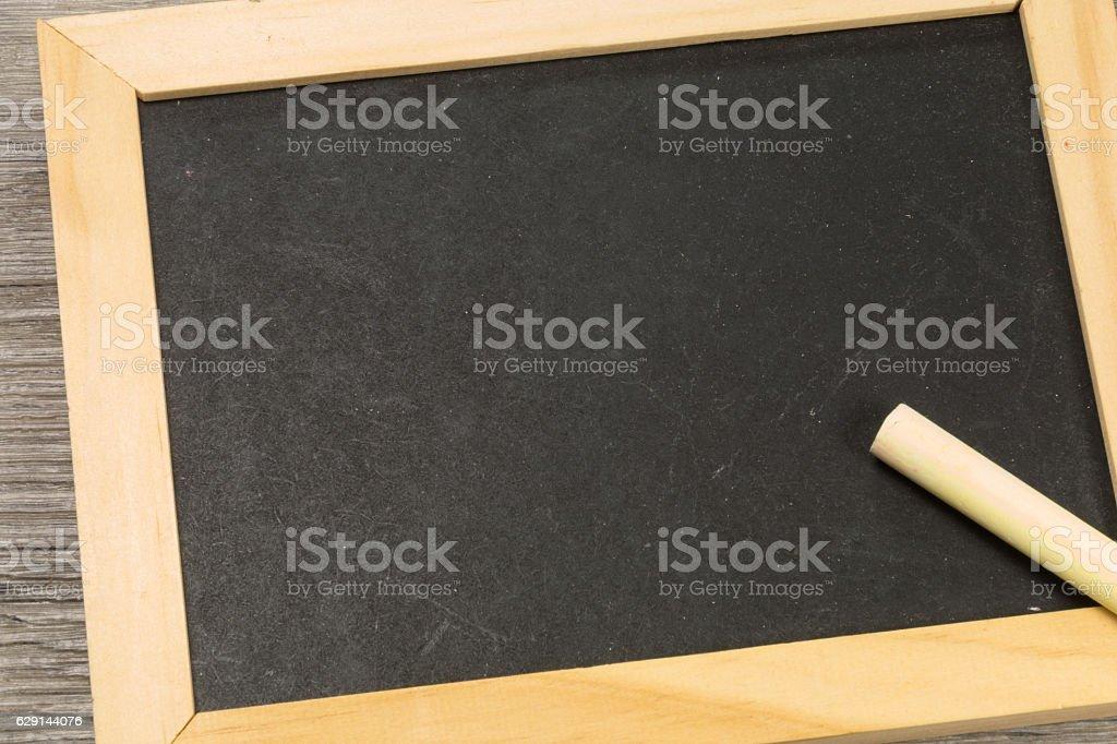 Eine leere Schreibtafel stock photo