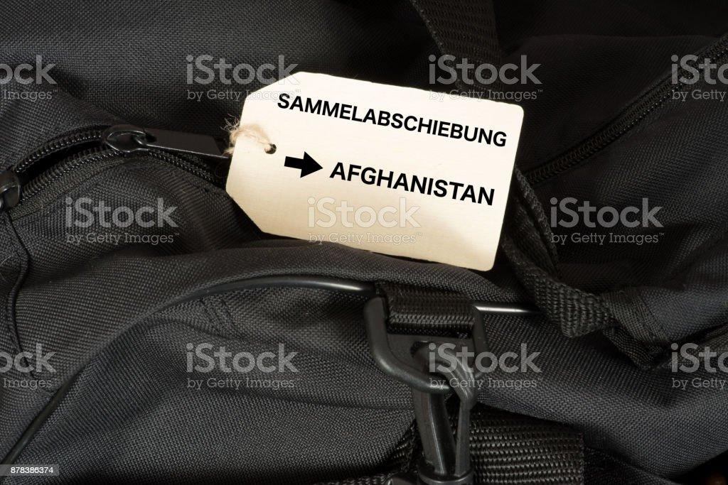 Eine Reisetasche Und Abschiebung Nach Afghanistan – Foto