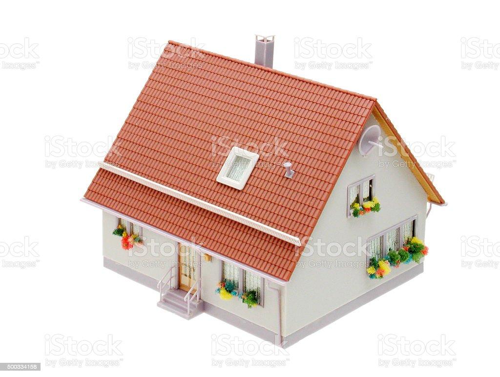 Einfamilienhaus (Modelbau) stock photo