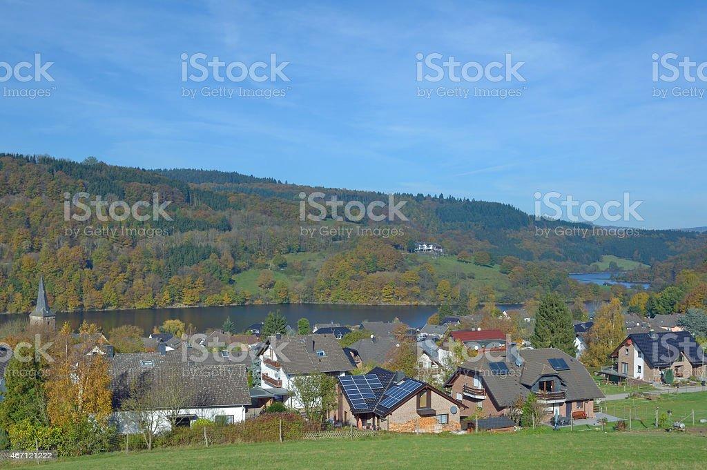 Einruhr,Eifel,Rur Reservoir,Germany stock photo
