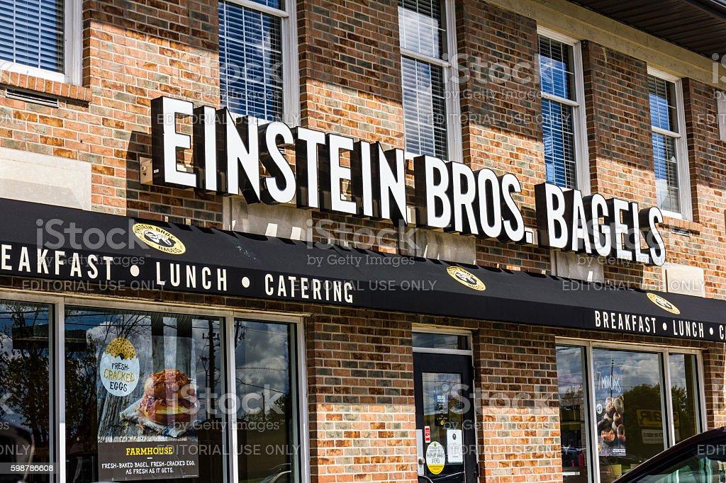 Einstein Bros. Bagels Quick-Casual Restaurant III stock photo