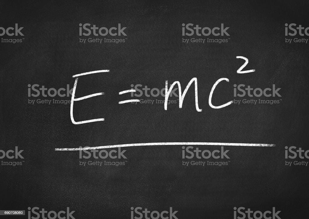 Einstein formula E=mc2 stock photo