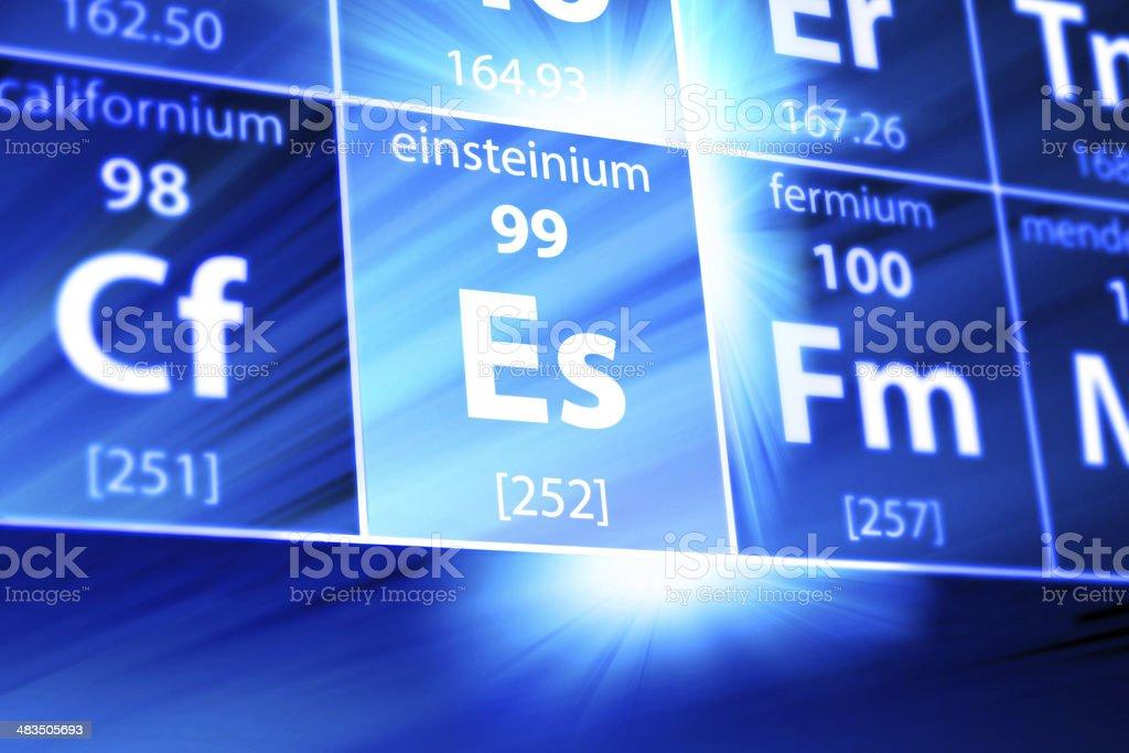 Einsteinium Es Periodic Table Stock Photo More Pictures Of