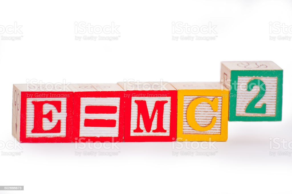 Einstein's energy equation stock photo