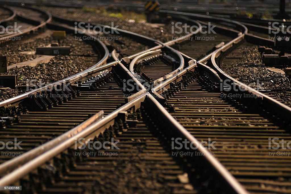 Eisenbahngleis stock photo