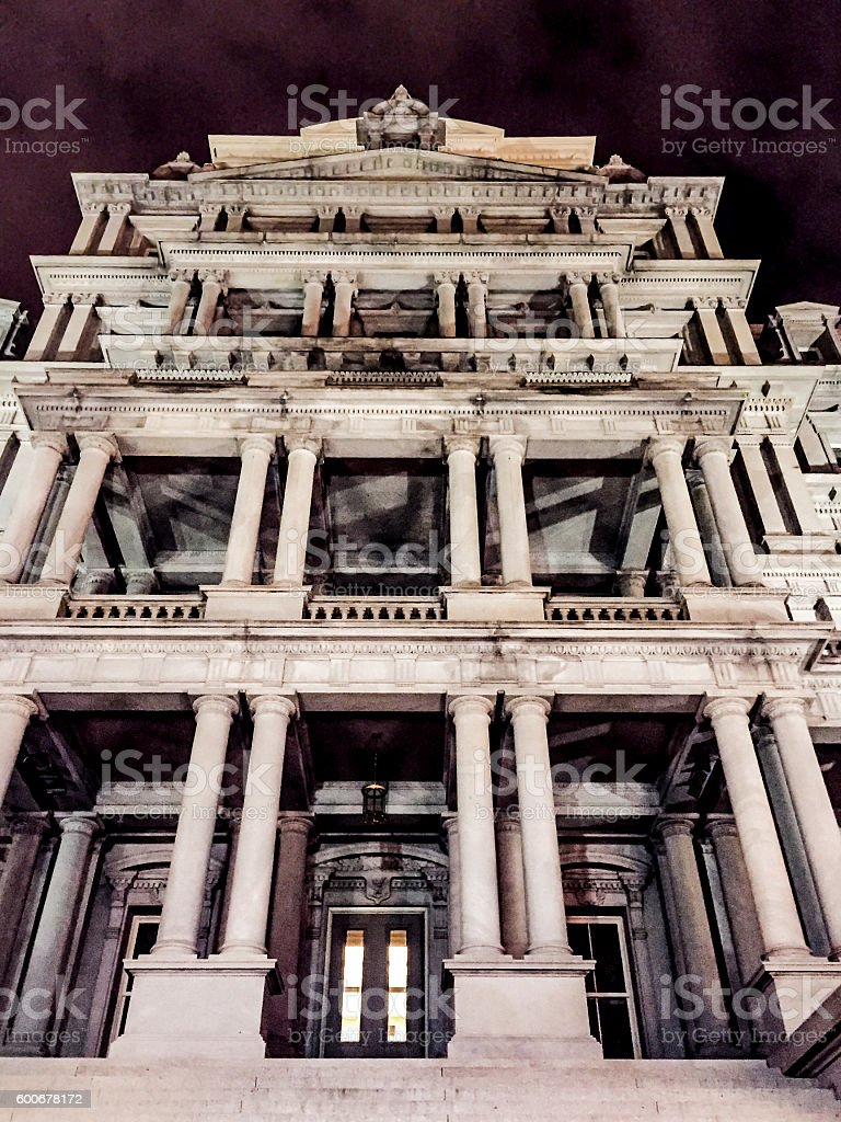 eisenhower office building stock photo
