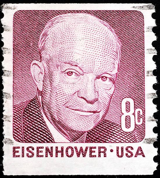 Eisenhower Portrat Auf Briefmarke Foto