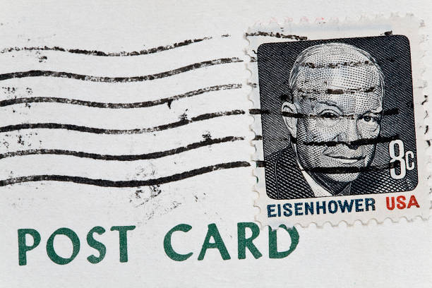 Eisenhower Stamp Stock Photo