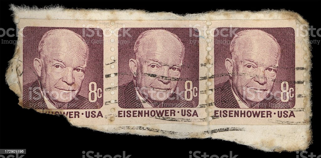 Eisenhower stamps stock photo