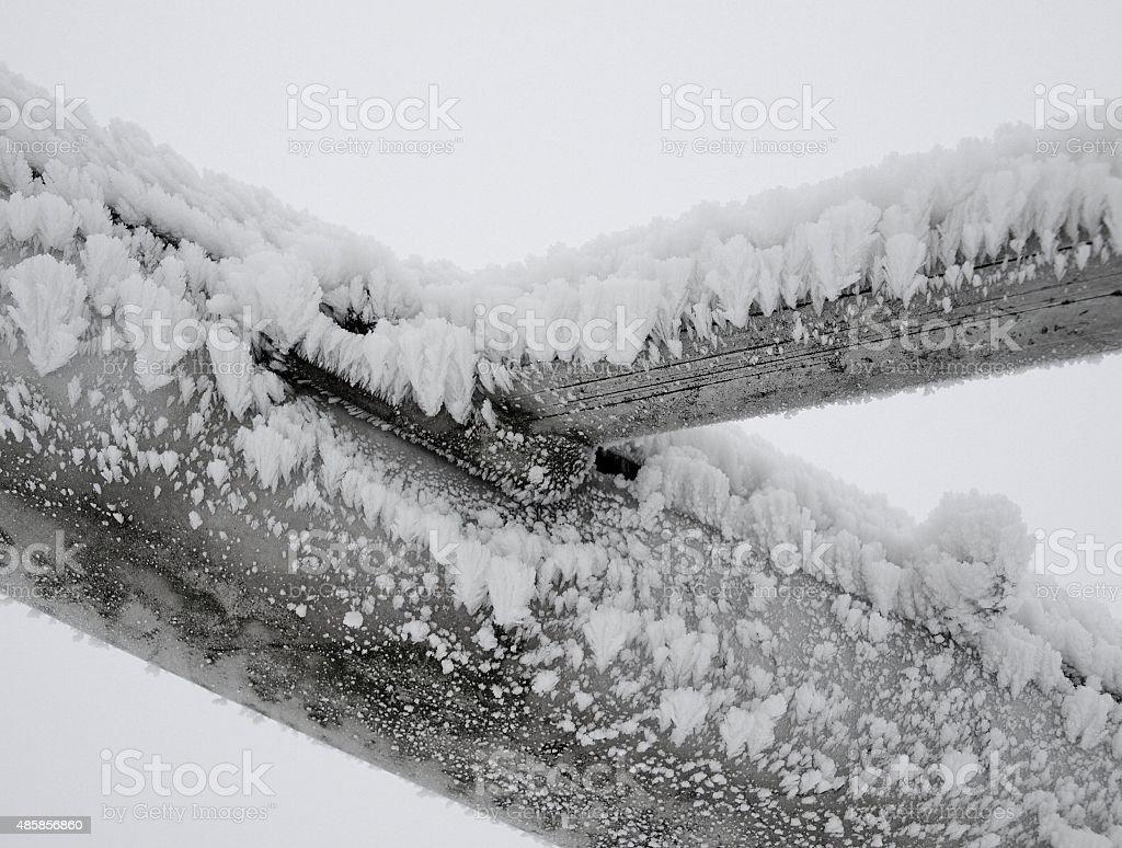 Eiskristalle ein Eisenstreben – Foto