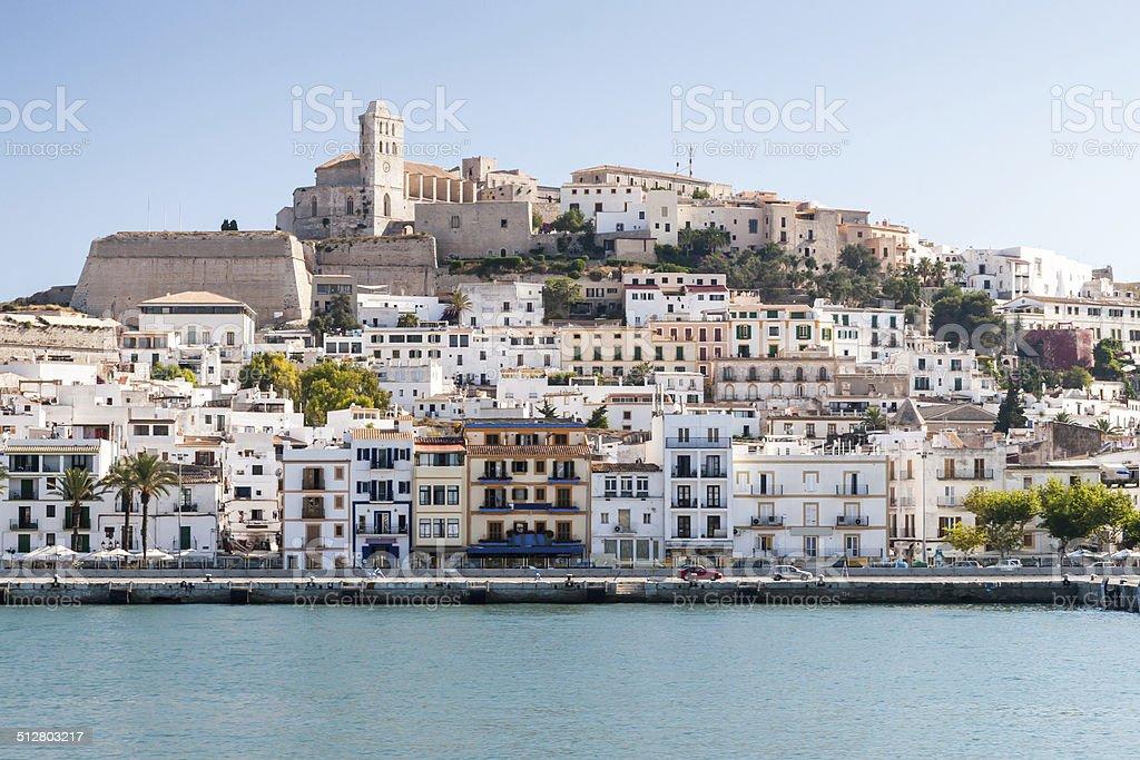 Eivissa - the capital of Ibiza, Spain stock photo