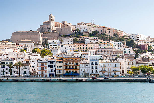 Eivissa - the capital of Ibiza, Spain stock photo
