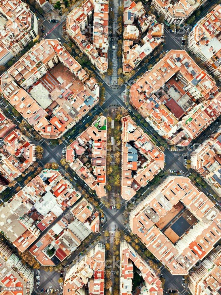 Barrio de Eixample en Barcelona - foto de stock
