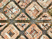 Eixample neighborhood in Barcelona