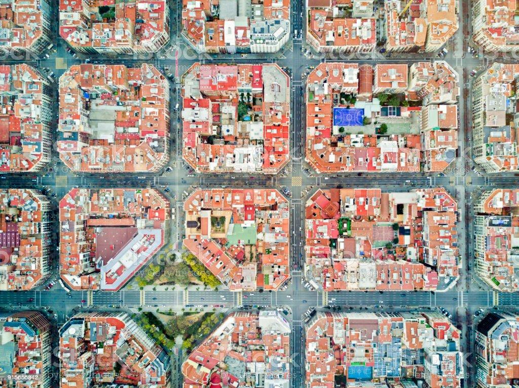 Eixample neighborhood in Barcelona stock photo