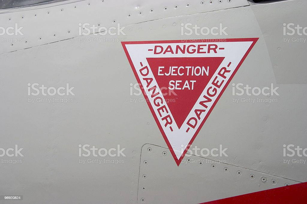 Ejection Seat Warning royalty-free stock photo