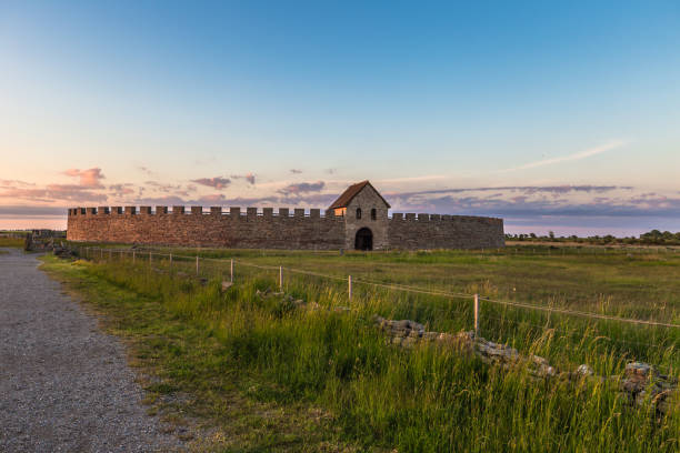 Öland, Schweden - 4. Juni 2016: Eketorp Fort, Öland, Schweden – Foto