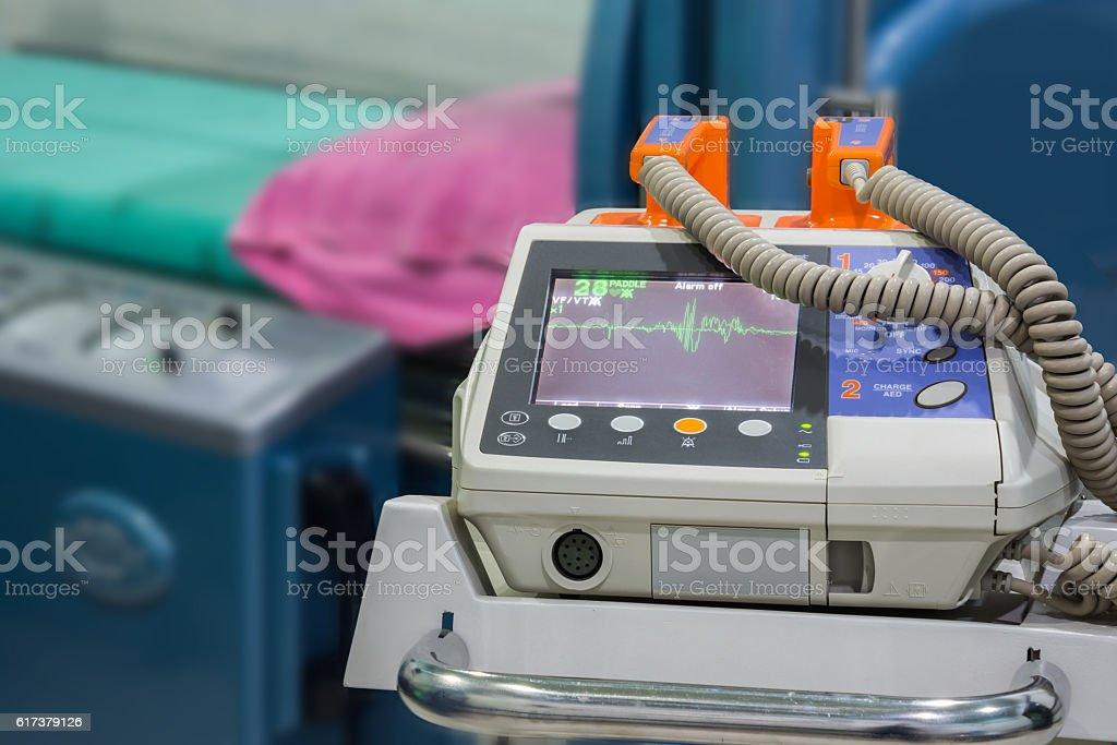 ekg machine stock photo