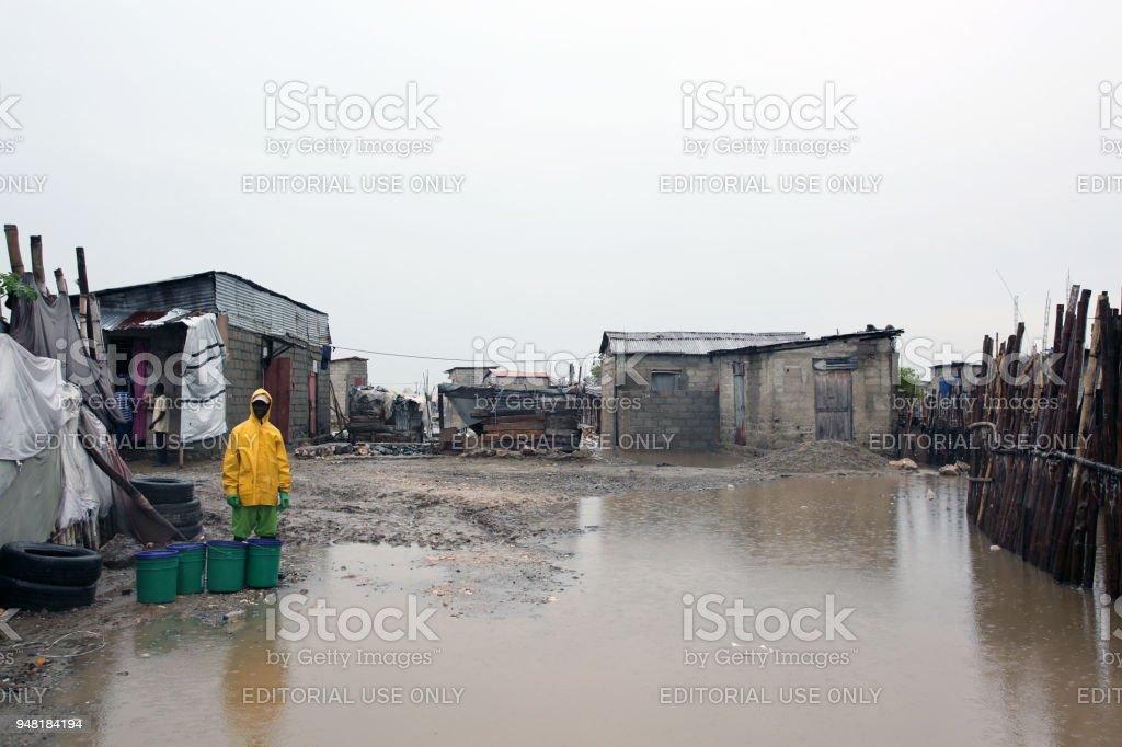 SOIL EkoLakay Ecosan Home Toilet Service, Cap Haitien stock photo