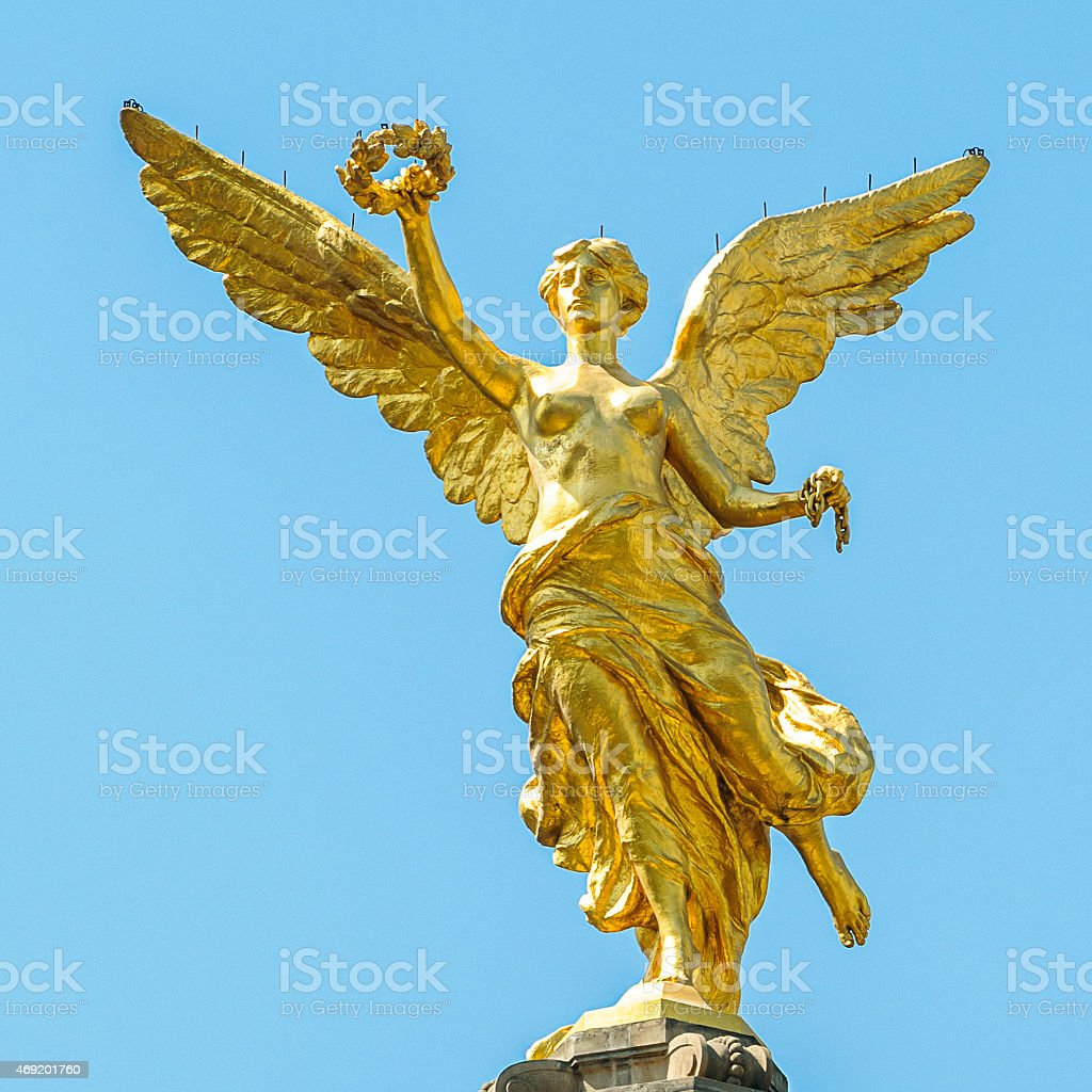 El Angel - Mexican Independence Monument in Mexico City stock photo