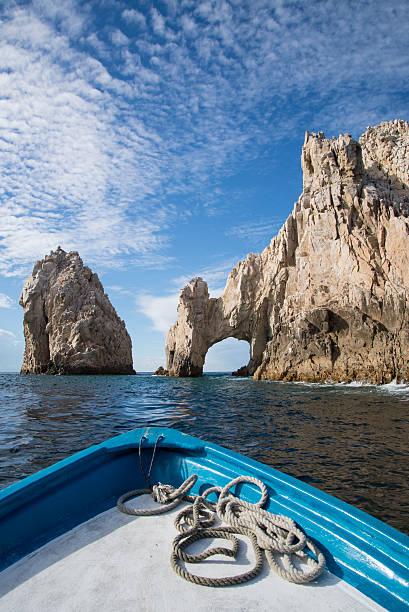 El Arco de Cabo san lucas mexico harbor cliff boat stock photo