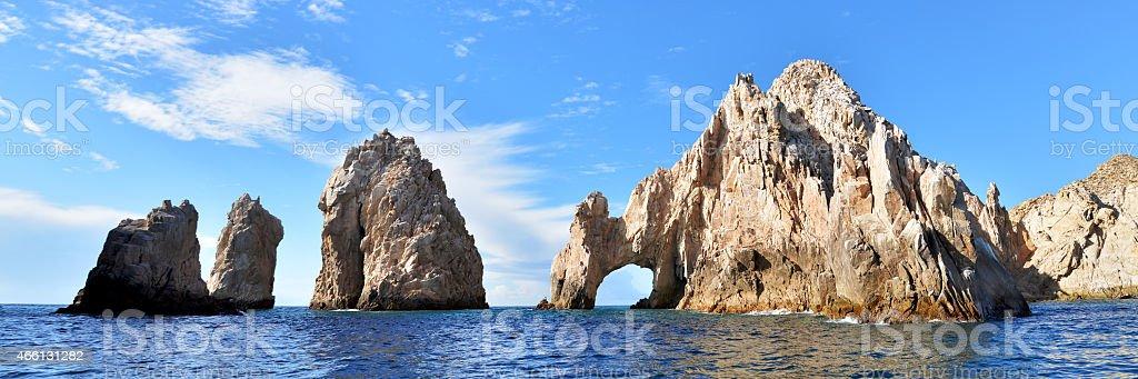 El Arco De Cabo San Lucas, México-Vista al puerto - foto de stock