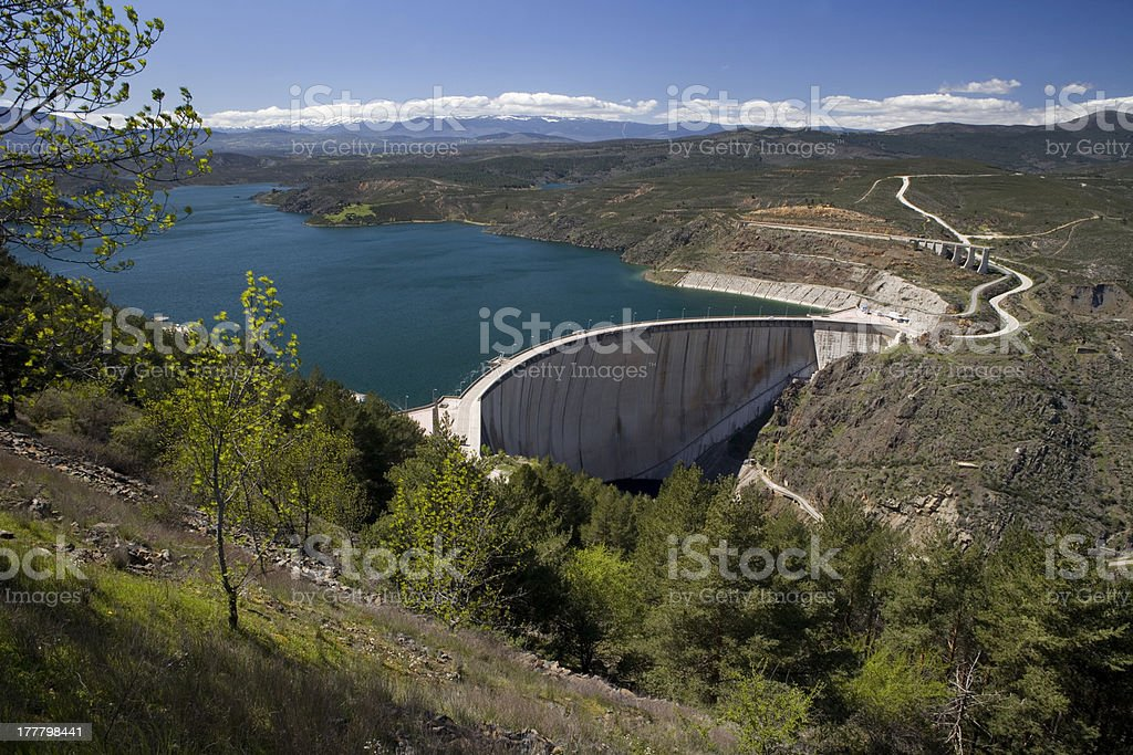 El Atazar dam overview stock photo
