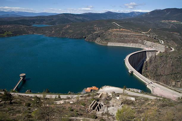 El Atazar dam stock photo