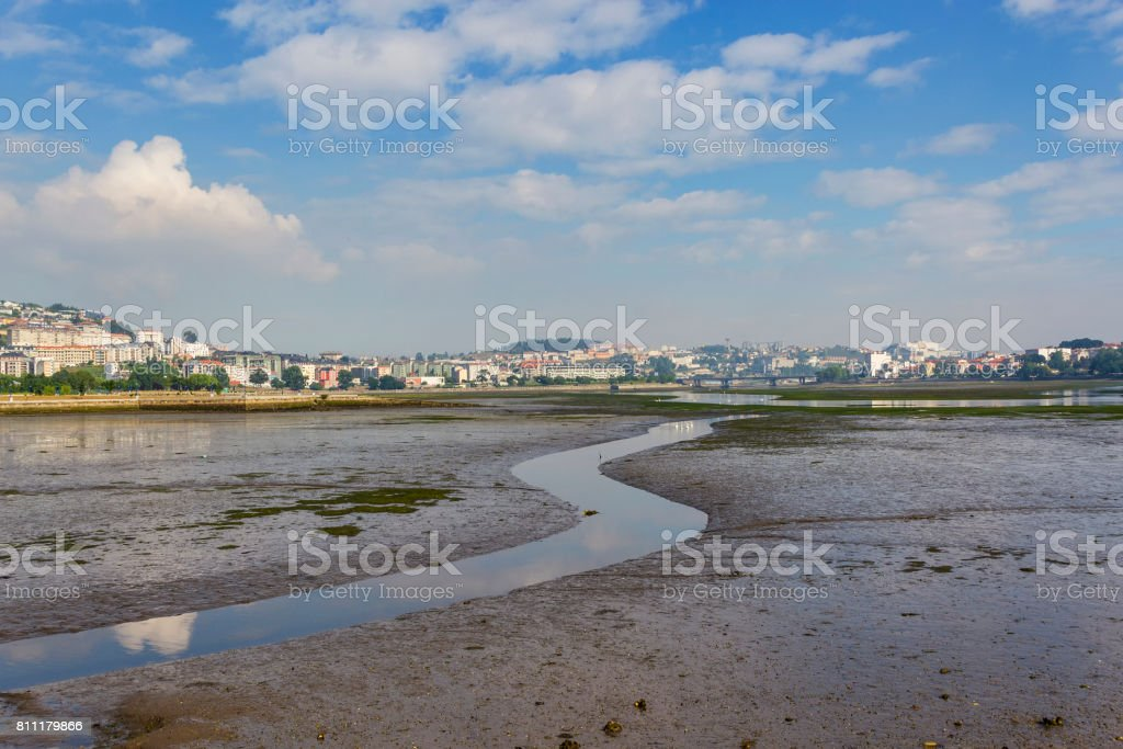 El Burgo estuary at low tide royalty-free stock photo