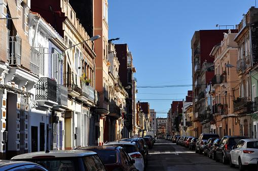 El Cabanyal, the Valencia neighbourhood part of the sea village.