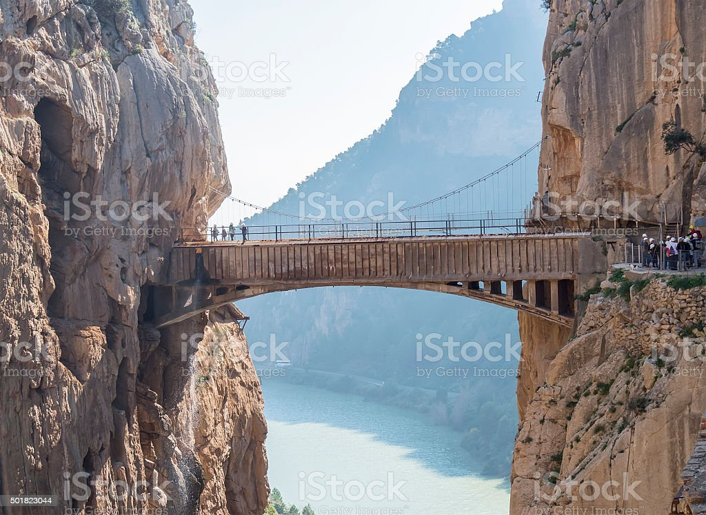 'El Caminito del Rey' (King's Little Path), World's Most Danger stock photo