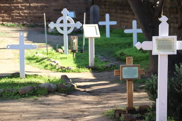 El Campo Santo Cemetary in Old Town San Diego stock photo