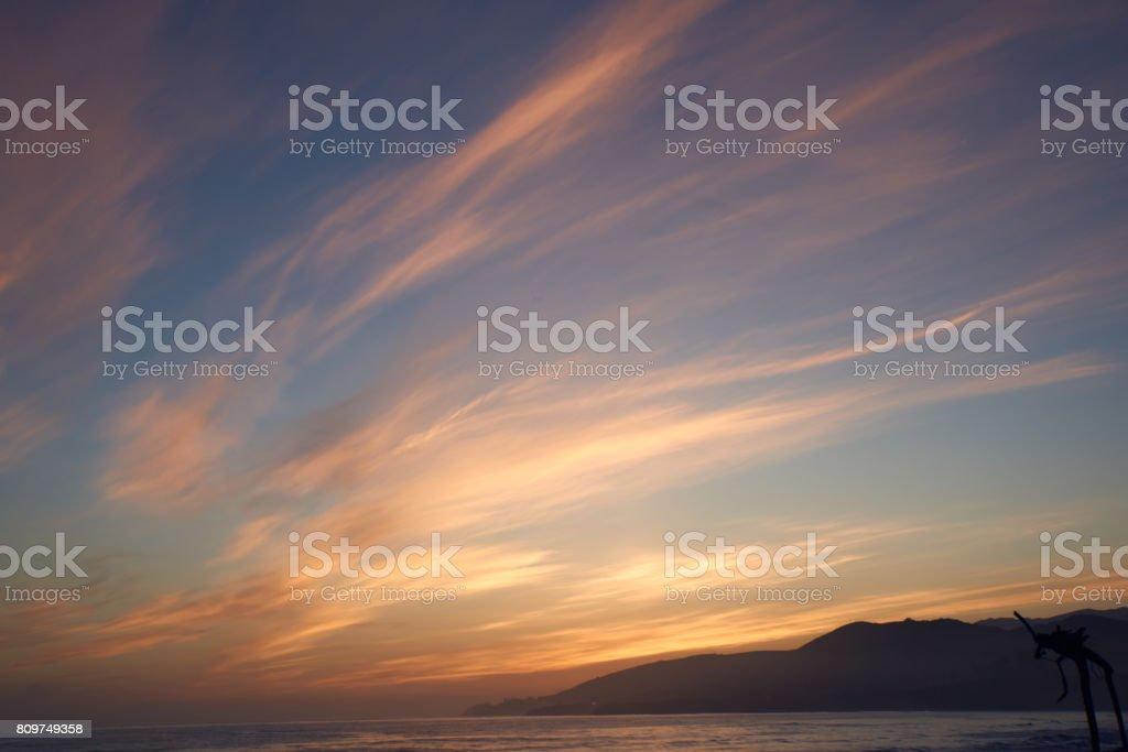 El Cap Sunset stock photo