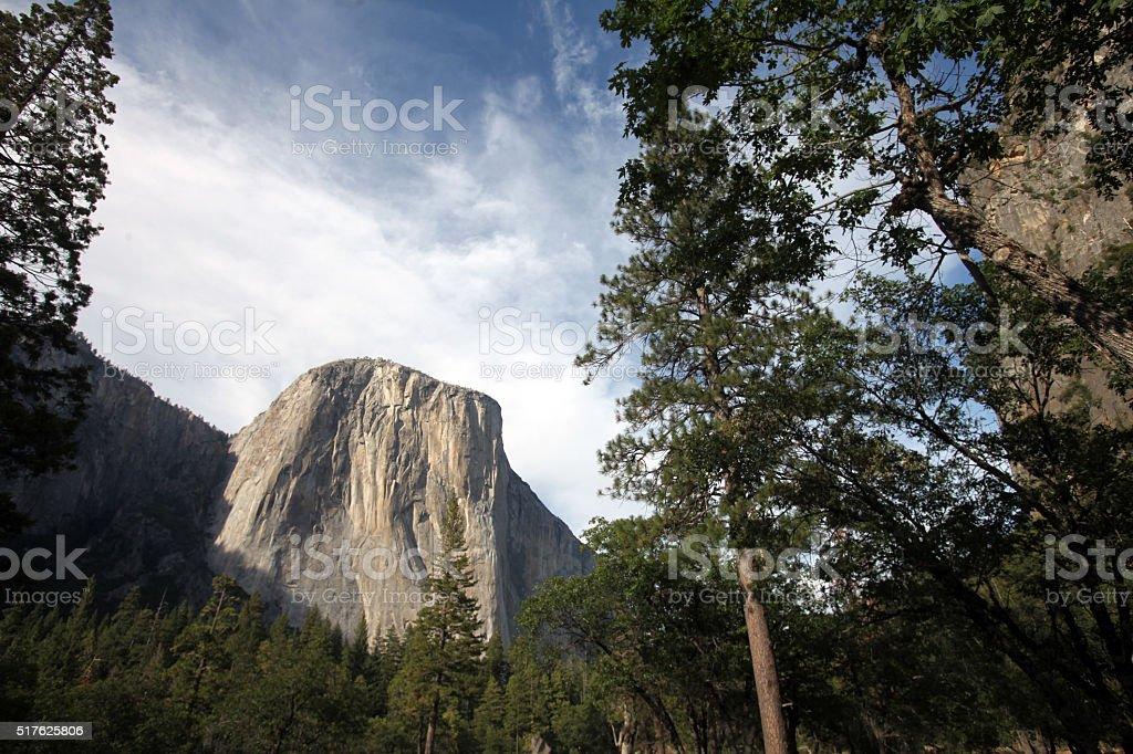 El Capitan Granite Cliff Face Yosemite National Park Stock