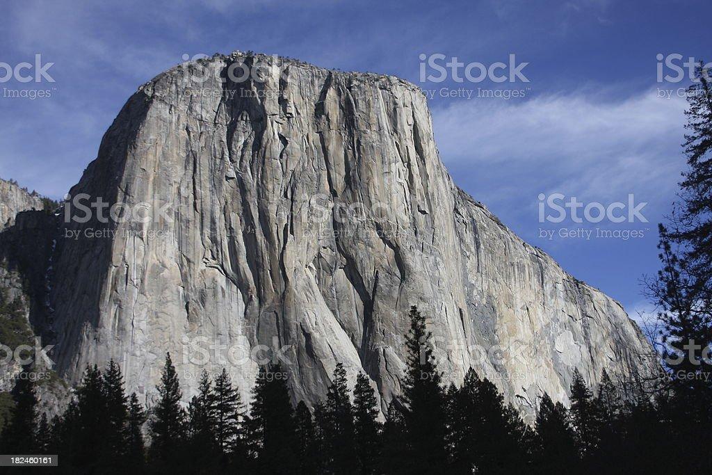 El Capitan in Yosemite National Park royalty-free stock photo
