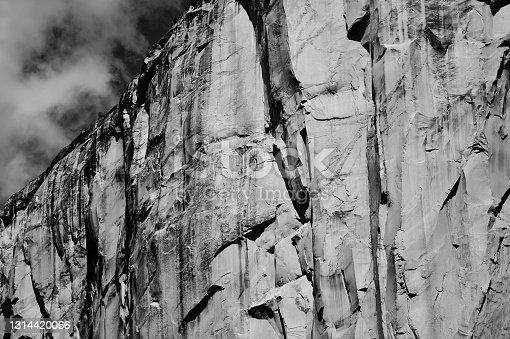 Granite wall in Yosemite National Park