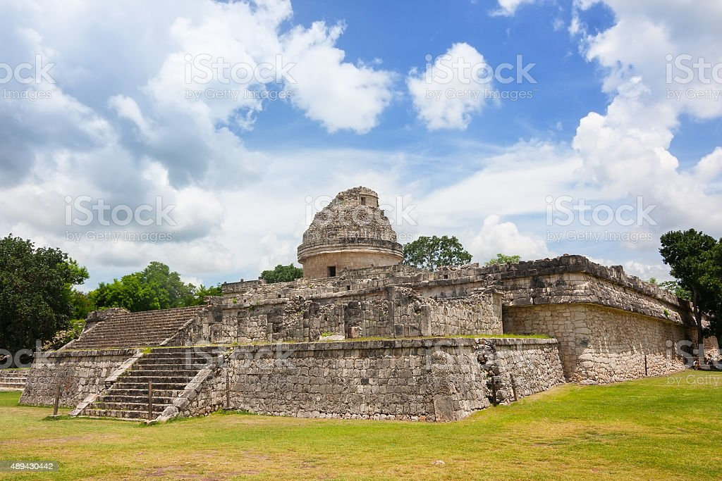 El Caracol The observatory at Chichen Itza stock photo