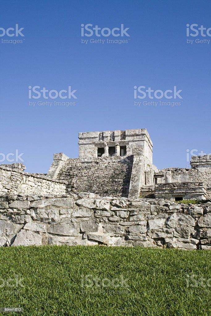 El Castillo- mayan ruins - Tulum, Mexico royalty-free stock photo
