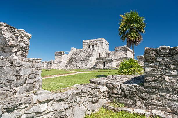 El Castillo, Tulum, Mexico stock photo