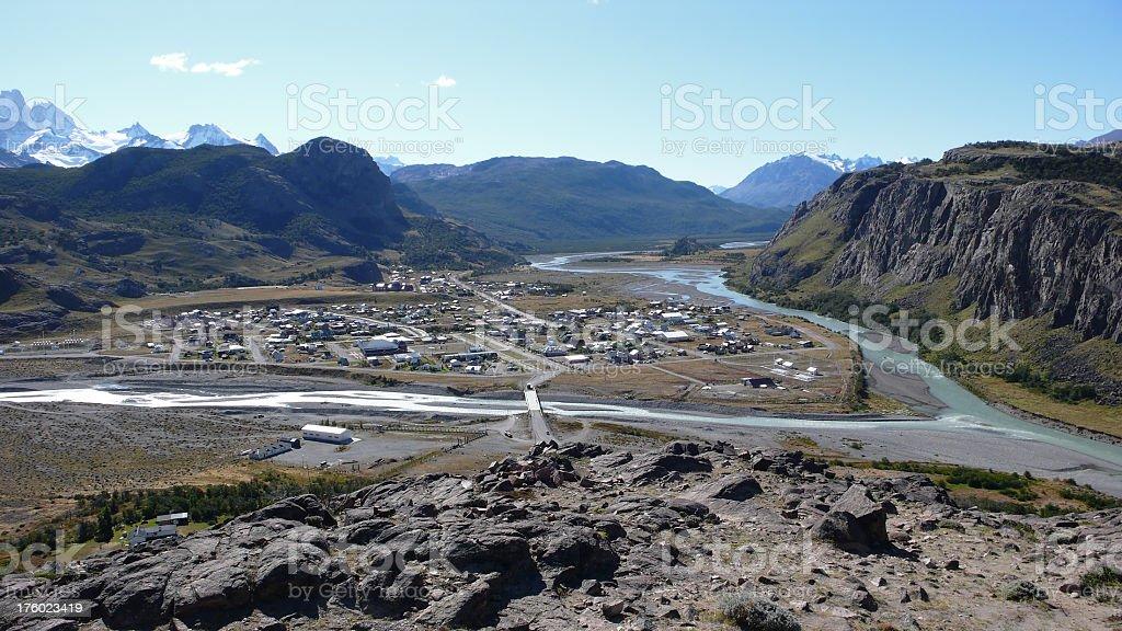 El Chalten in Patagonia - Argentina royalty-free stock photo