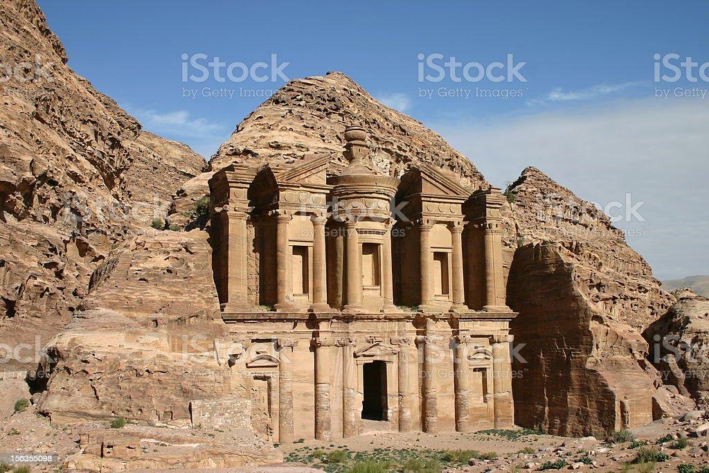 El Deir, The Monastery in Petra, Jordan royalty-free stock photo