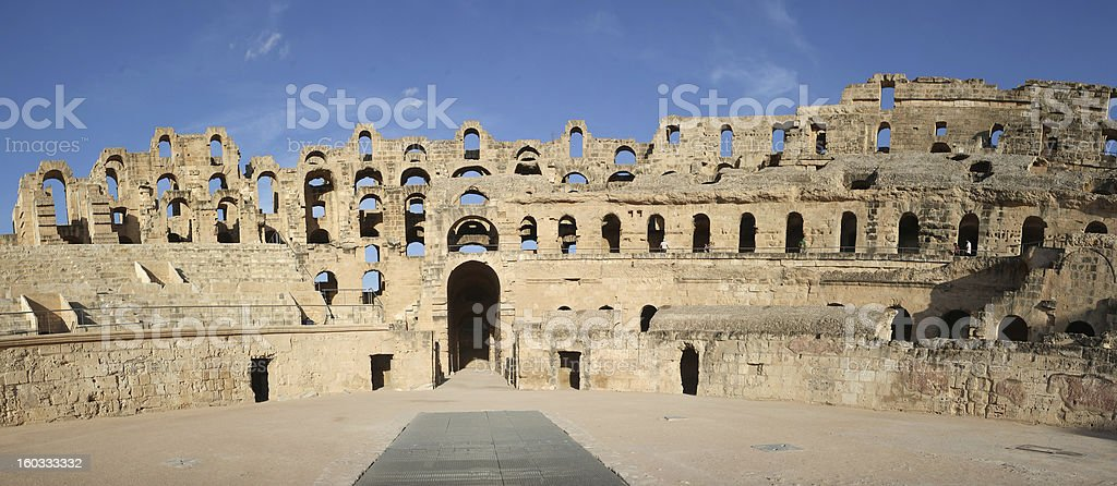 El Djem Amphitheatre gate stock photo