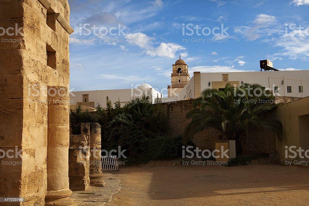 El Djem city stock photo